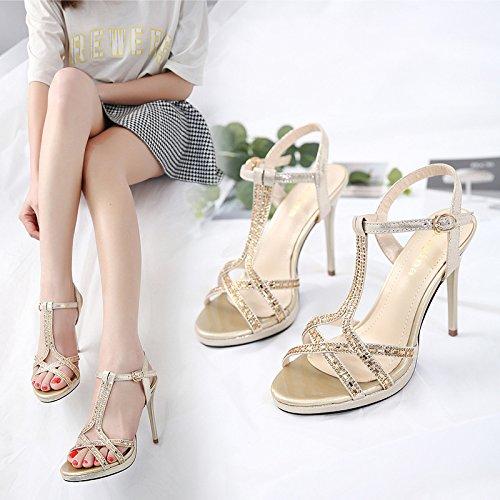 nuovo acqua pesce perforazione Il esposta elegante bocca di di ZHZNVX donna raffinati con sandali black calzature 5cqR1Bcwn