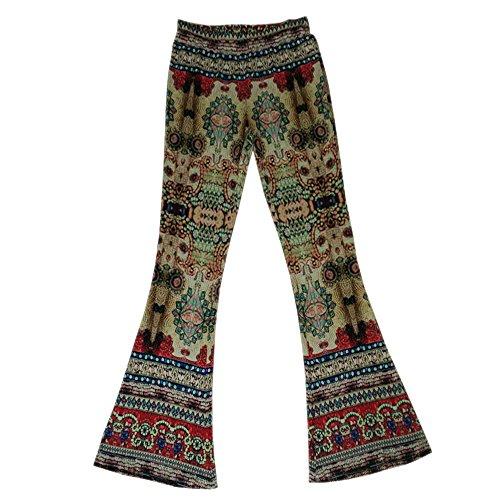 À Palazzo Jambe Bozevon Taille Haute 1 Style Pantalons Leggings Pour Femme Évasés Large Vintage qEwZAt