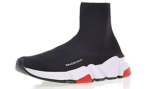 Balenciaga Speed Trainer Sneaker Black White Red Balenciaga Mujer Hombre Zapatillas: Amazon.es: Zapatos y complementos