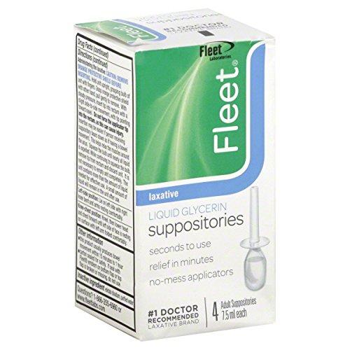 - Fleet Laxative, Liquid Glycerin Suppositories