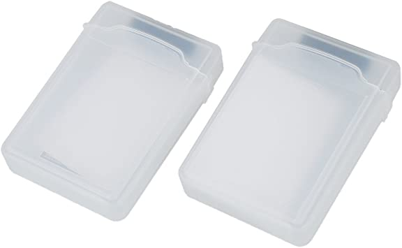 Estuche de almacenamiento - SODIAL(R) 2 paquetes 3.5 pulgadas Estuche de almacenamiento para disco duro SATA HDD Claro: Amazon.es: Electrónica