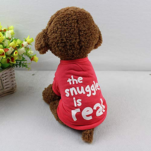 Hpapadks Pet T-Shirt, Dog Clothing T Shirt Puppy Costume for Small Dog Christmas Shirt,Pet Clothes for Small Dogs