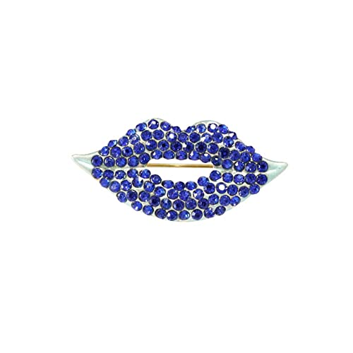 d428bcb73 Amazon.com: Shinywear Chic Crystal Blazing Red Lip Brooch Pins for Wedding  Hat Dress Shirt Blouse Lapel Pins Fashion Flower Bouquet Decors (Bright  Blue): ...