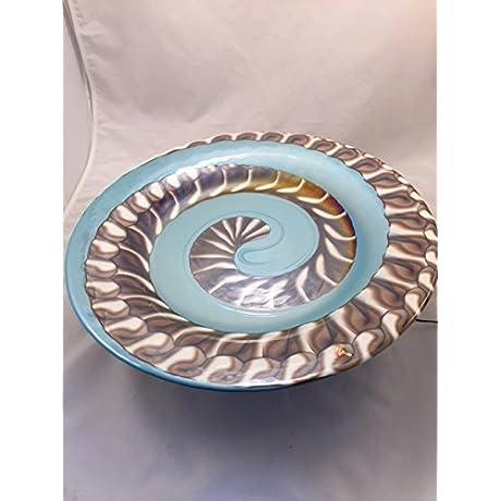 Murano Glass Centerpiece Aqua Brown