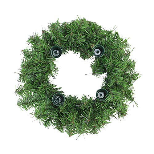 Northlight Two-Tone Pine Artificial Christmas Advent Wreath, Green ()