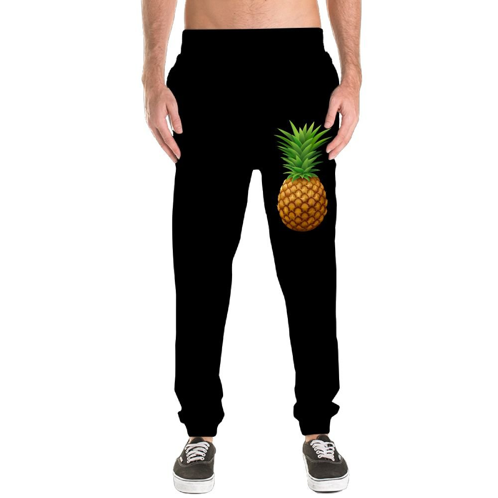 Pineapple Men's Jogger Sweatpants Drawstring Elastic Waist Outdoor Running Trousers Pants With Pockets