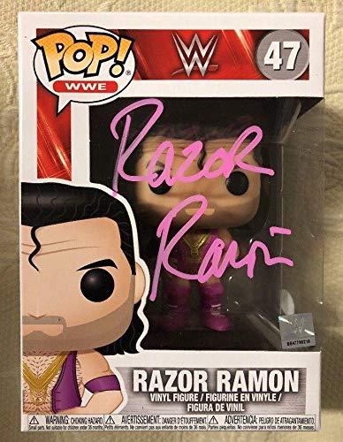 (RAZOR RAMON SCOTT HALL Signed Autographed WWE FUNKO POP WITNESS COA 7 - JSA Certified - Autographed Wrestling Cards)