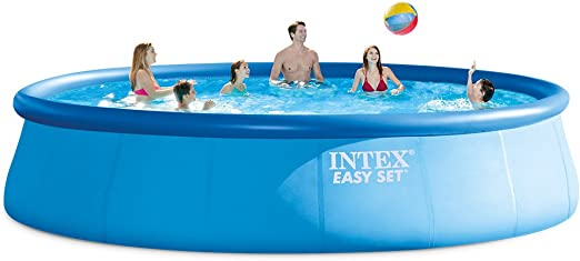 Amazon Com Intex 18ft X 48in Easy Set Pool Set With Filter Pump Ladder Ground Cloth Pool Cover Garden Outdoor