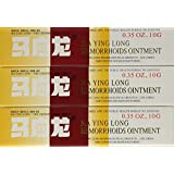 Mayinglong Musk Hemorrhoids Ointment Cream - 10g/1pcs(English Instruction Manual) (3pcs)