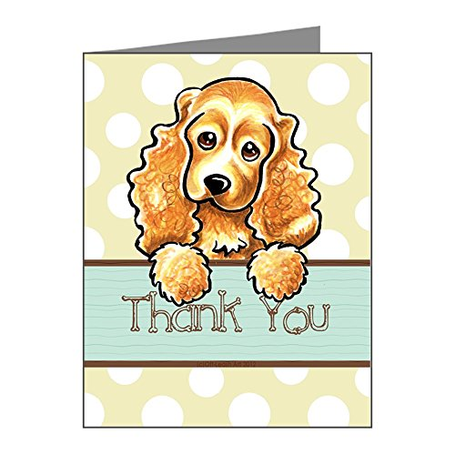 CafePress - Cocker Spaniel Polka Dot Thank You Note Cards (Pk - Blank Note Cards (Pack of 20) Glossy