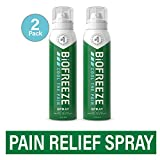 Biofreeze Pain Relief Spray, 4 oz. Aerosol Spray, Pack of 2, Colorless (Packaging May Vary)