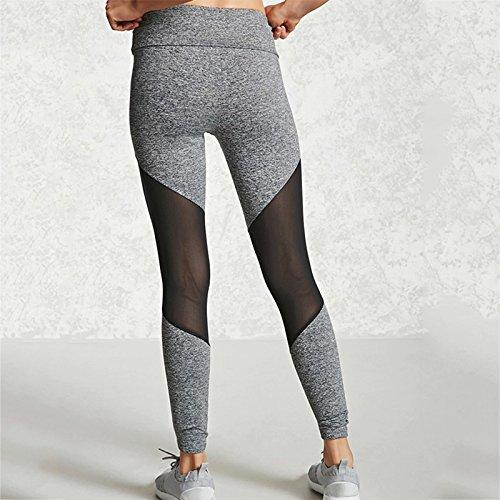 wlgreatsp Donne giunzione del filo palestra fitness Sport Yoga Pants Slim Skinny Leggings Pantaloni Sportivi Donne