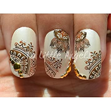 Amazon Com 20x Henna Tattoo Inspired Nail Art Water Slide Decal