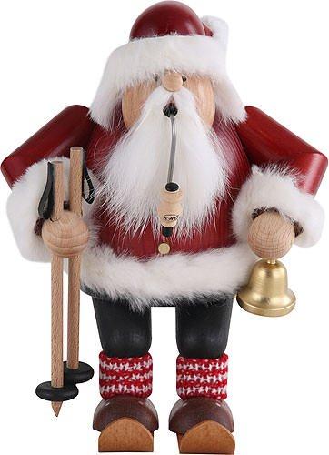 KWO Skiing Santa Claus German Christmas Incense Smoker Handcrafted in ()