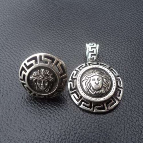 Handmade Medusa Gorgon Ring or Pendant Sterling Silver 925 Yellow Gold White Gold ALL SIZES Versace Replica Reproduction