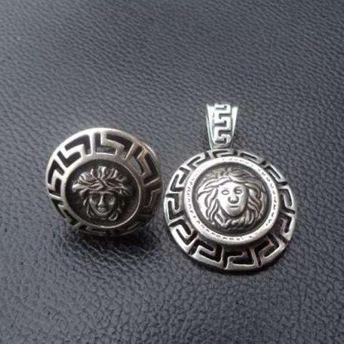 Handmade Medusa Gorgon Ring or Pendant Sterling Silver 925 Yellow Gold White Gold ALL SIZES Versace Replica - Versace Retro