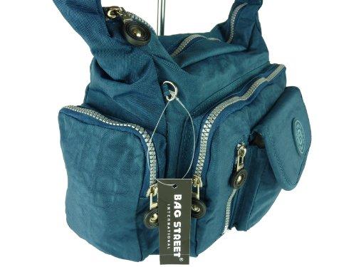 Bag Street , Sac pour femme à porter à l'épaule Bleu blau blue dunkelblau m blau blue dunkelblau
