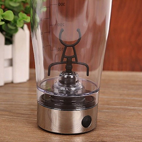 Electric Shaker Blender Water Bottle Automatic Vortex 450ml Detachable Mixer Cup by Mmrm (Image #5)'