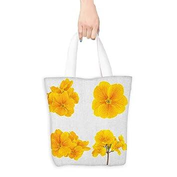 Bolsa de trabajo de compras, flores amarillas florecientes ...