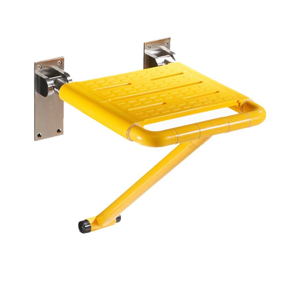 【在庫僅少】 折り畳み可能な壁のスツールバスルームシャワーの座席のスツール折り畳み式の椅子アイルの椅子の壁は B07F41JVNH、脚を持つ高齢者 200kg/障害者用アンチスリップシャワーチェアを黄色のマックスでシャワースツールに取り付けました。 200kg B07F41JVNH, みのり:2b3459be --- calendarfactory.ie
