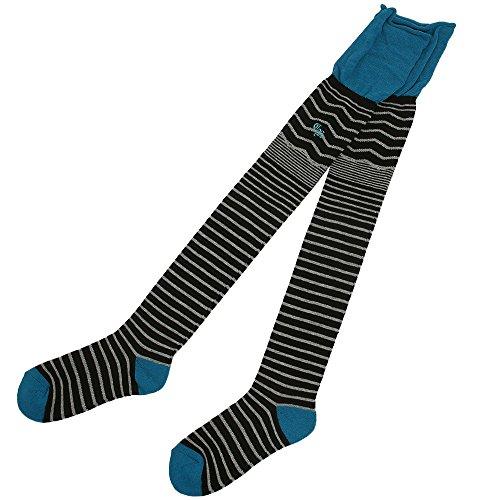 クアルトユナイテッド CUARTO UNITED 靴下 ルーズトップボーダーニーハイソックス FB-015 レディス グリーン フリー