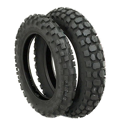 - MMG TIRE SET: Front 2.50-10 and Rear 3.00-10 Knobby Tread for Trail Off Road Dirt Bike Motocross Mini 10