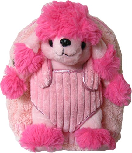 (Kreative Kids Adorable Pink Poodle Plush Backpack with Removable Stuffed Animal)