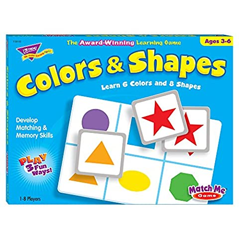 Trend T58103 Trend Colors and Shapes Match Me Game, Ages 3-6 (Trend Educational Products)