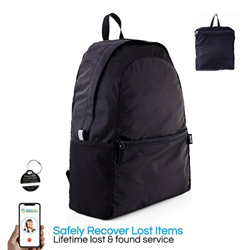 Packable Backpack, Compact Foldable Day Pack  - w/Lifetime Lost & Found ID Tag by Peak Gear