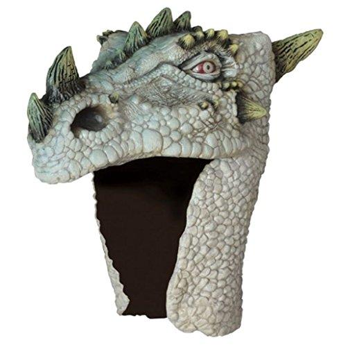 Albino Dragon Slayer Warrior Fantasy Head Helmet Adult Latex Costume Accessory