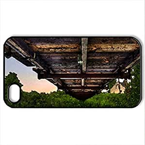 lintao diy between a bridge and a river hdr - Case Cover for iPhone 4 and 4s (Bridges Series, Watercolor style, Black)