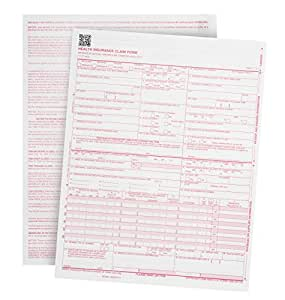 "500 CMS-1500 Claim Forms – Current HCFA 02/2012 Version ""New Version""- Forms will line up with billing software and Laser Compatible- 500 Sheets – 8.5'' x 11"