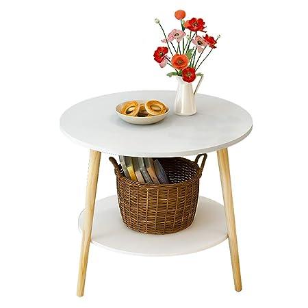Tavolini Da Salotto Divani E Divani.Zbzz Tavolino Da Caffe Multifunzione Rotondo Moderno A Due Piani