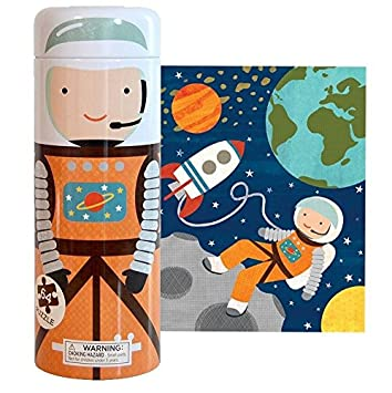 amazon com petit collage tin canister jigsaw floor puzzle into