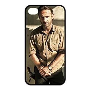 The Walking Dead Rick Grimes iPhone 4/4s Case Personalized Durable Black Hard Plastic iPhone 4/4s Cover Case
