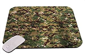 Digital Camo Green And Brown Military Mouse Pad