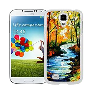 Best Samsung Galaxy S4 Case Art Design Landscape Durable Soft TPU White Phone Cover