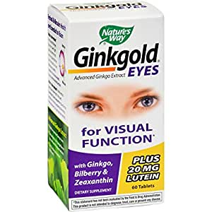 Nature's Way Ginkgold Eyes -- 60 Tablets