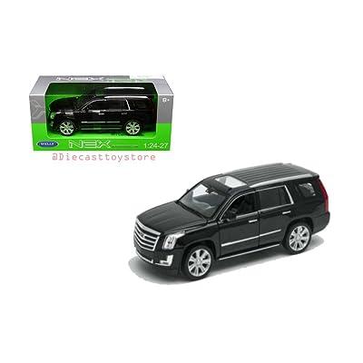 NEW DIECAST TOYS CAR WELLY 1:24 WINDOW BOX - 2020 CADILLAC ESCALADE BLACK 24084W-BK: Toys & Games
