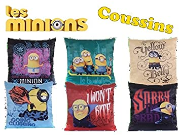 Amazon.com: Minions Minions Cojín 30 cm x 30 cm), varios ...