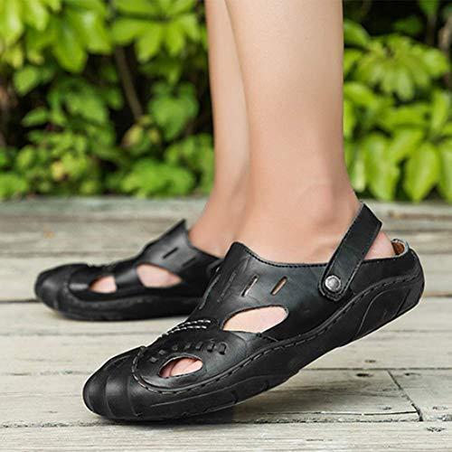 Black Del A Dito Sandali Piede Uomini Chiuso 38 Passeggio Scarpe Vacchetta Pantofola Estate Baotou nxqZC7