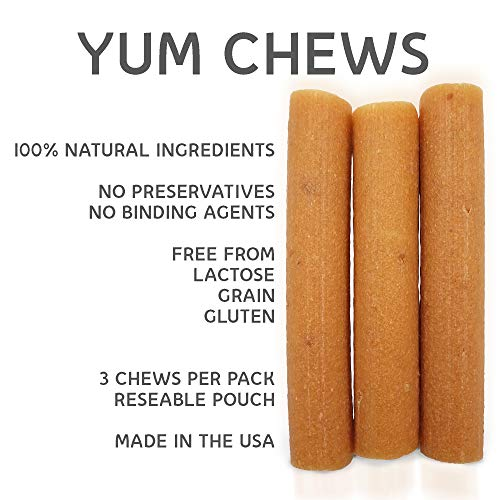 HDC Yaky Snacks yakyYum Himalayan Cheese Treats | Lactose Free | Gluten Free | Grain Free | Made in USA | For All Breeds | Cheese Flavor