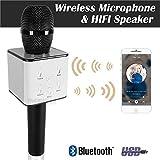 SBA Karaoke Wireless, Portable Handheld Singing Machine Condenser Mic And Bluetooth Speaker Compatible With All Smartphone - Black