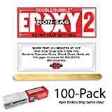 Hardman Double Bubble Red Epoxy2 - Extra Fast Setting (3-5 minute) Non-Sag/No-Drip (Thixotropic) Epoxy Gel 100 Packs (#04008)