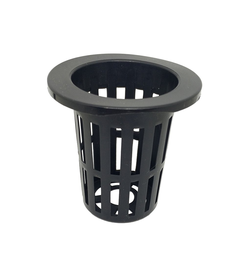 Agarden 2.82.8 Hydroponics Mesh Net Cup Pots Basket Garden Supplies Aquaponics System Black Pack of 20