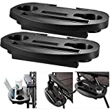 Fineway 2 x Clip On Side Table Tray For Zero Gravity Sun Lounger / Camping Chair Outdoor Garden Fishing Beach Storage Tidy – Ideal for Drink , Mobile Phone, Books, Ipad Tablet Holder (2 x Side Tray Tables)