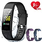 IYOUND Fitness Tracker, Activity Tracker Watch Color Screen with Heart Rate Monitor, Connected GPS Tracker Smart Bracelet Waterproof, Step Calories Counter, Pedometer, Fitness Watch for Kids Women Men