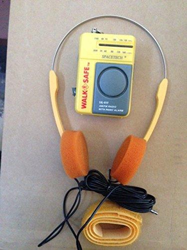 Guardians Of The Galaxy Style Walkman AM FM Radio w/ Orange Headphones - Working Prop Halloween 2014! -