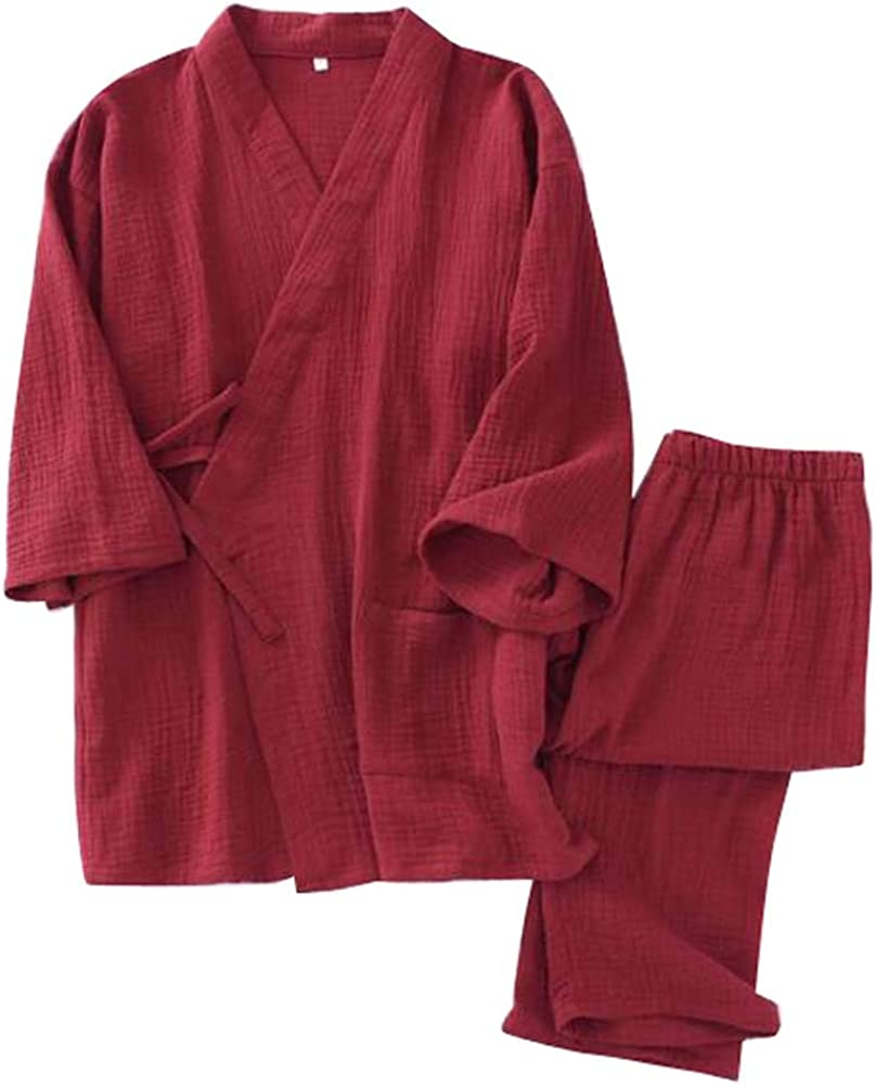 Pijamas de algodón japonés Kimono para Mujer Ropa de sudoración, Tops + Pantalones, A05: Amazon.es: Ropa y accesorios