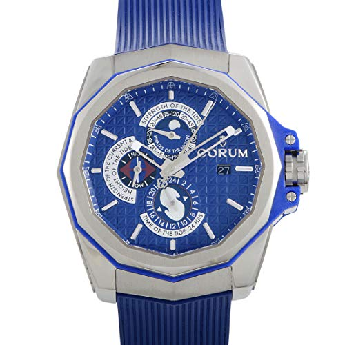 Corum Admirals Cup - Corum Admiral's Cup Ac-One 45 Tides 277.101.04/F373 AB12 45mm Automatic Titanium Case Blue Rubber Anti-Reflective Sapphire Men's Watch